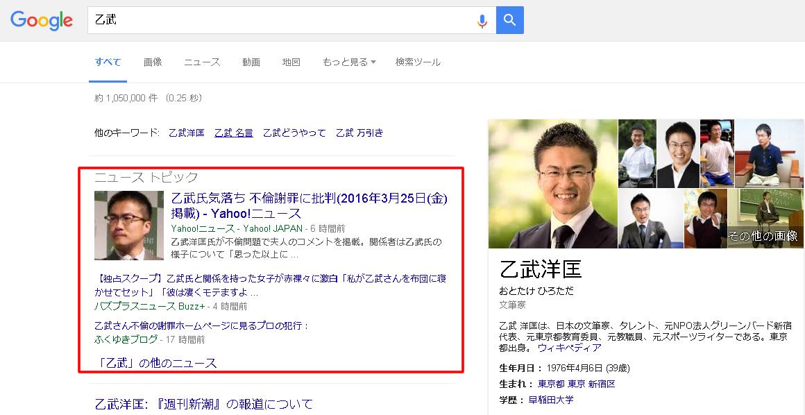 【QDF】乙武さんの不倫報道にみる検索結果画面「QDFアルゴリズム」を解説