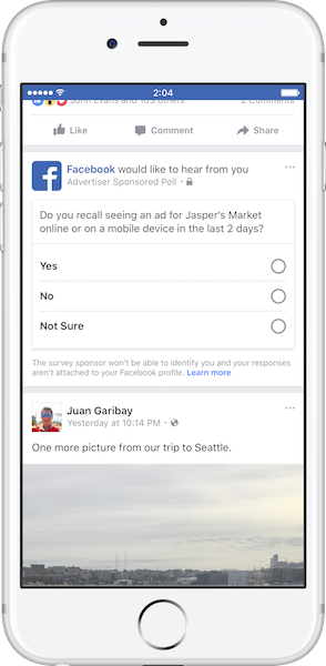 facebook ブランドリフト調査