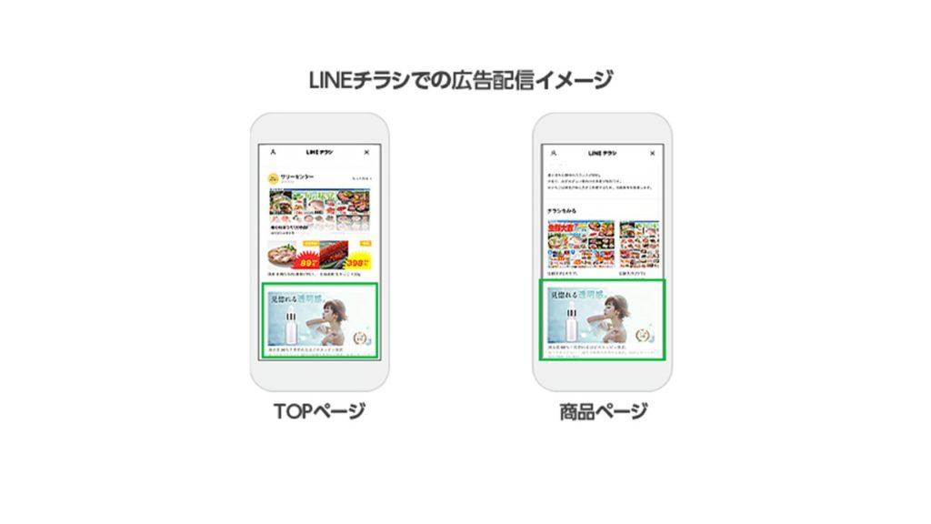 LINEチラシの広告枠